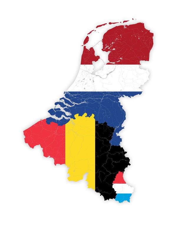 Kaart van de Benelux